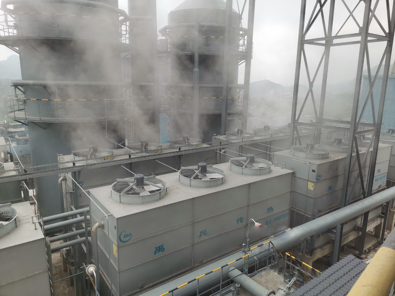 ICE Counter-flow Closed Circuit Cooling Tower system applied in aluminium manufacturer