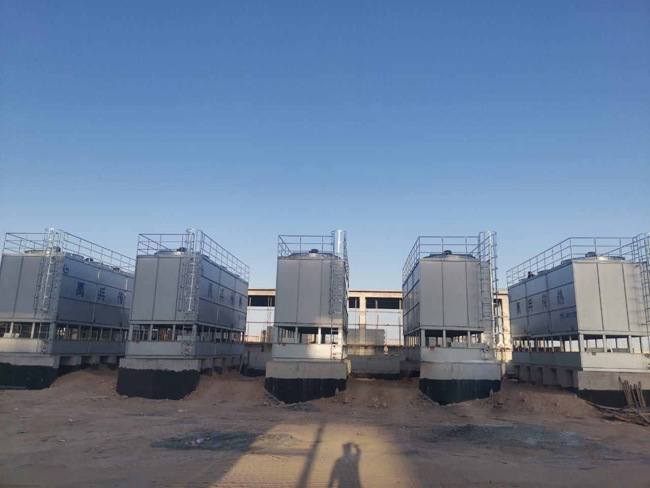 ICE Counter-flow Closed Circuit Cooling Tower system applied in heat-engine plant