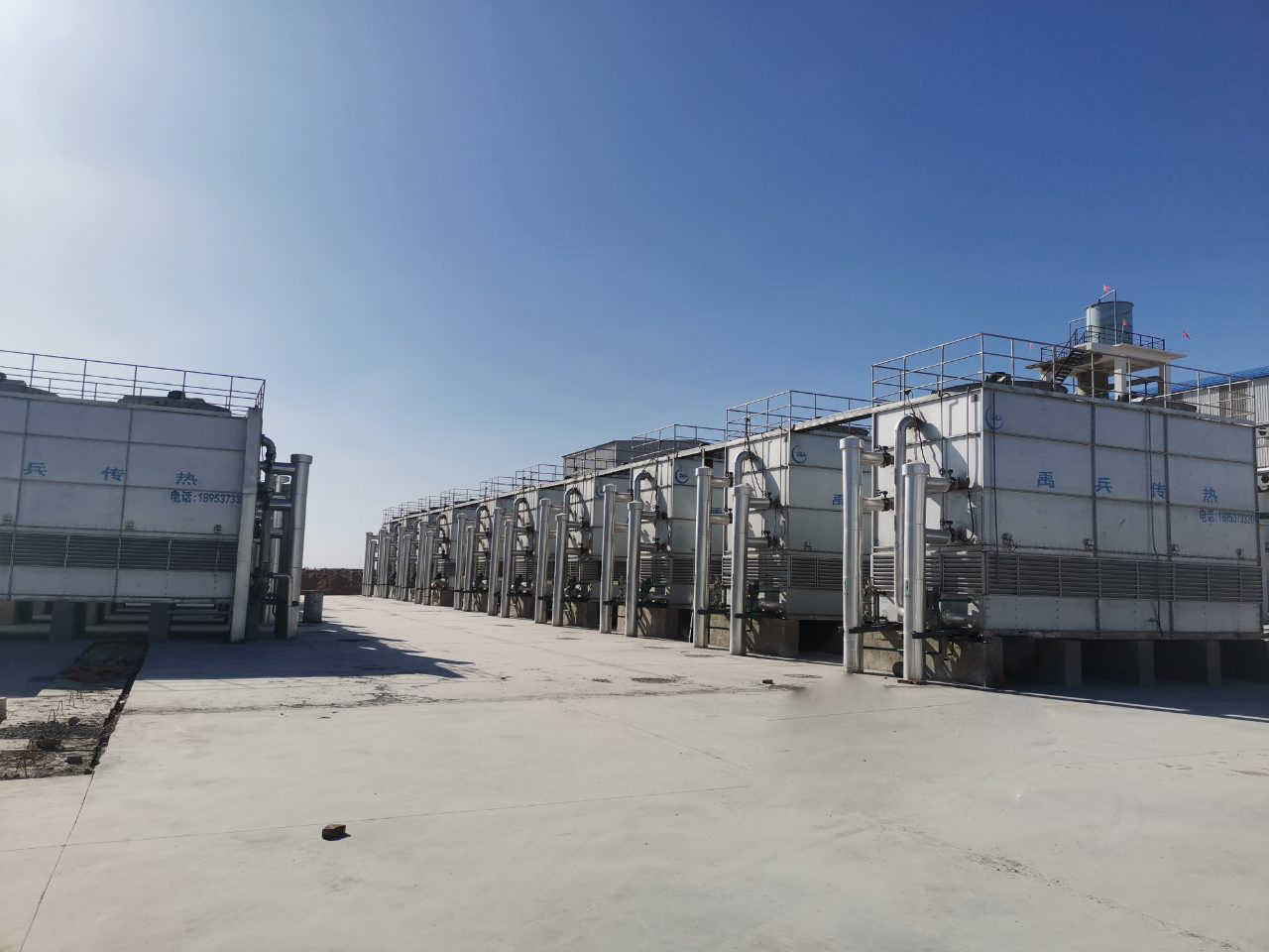 ICE cross-flow Closed Circuit Cooling Tower System applied in chemical plant