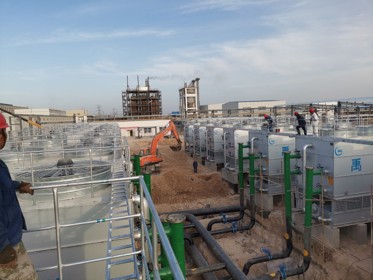 ICE cross-flow Closed Circuit Cooling Tower System applied in petroleum refineries